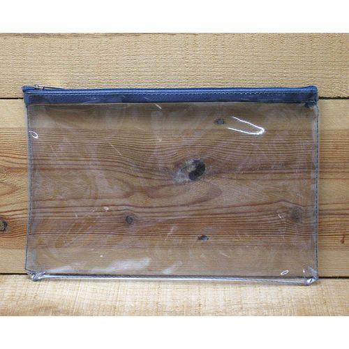 透明大長方形拉鍊袋(藍綠色)