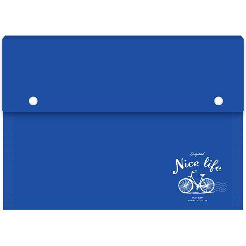 風琴夾大12層-藍車