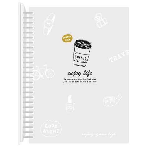 26孔B5簡易筆記-咖啡