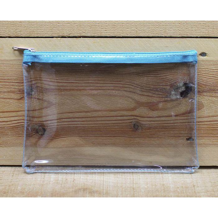 透明中拉鍊袋(淺藍)
