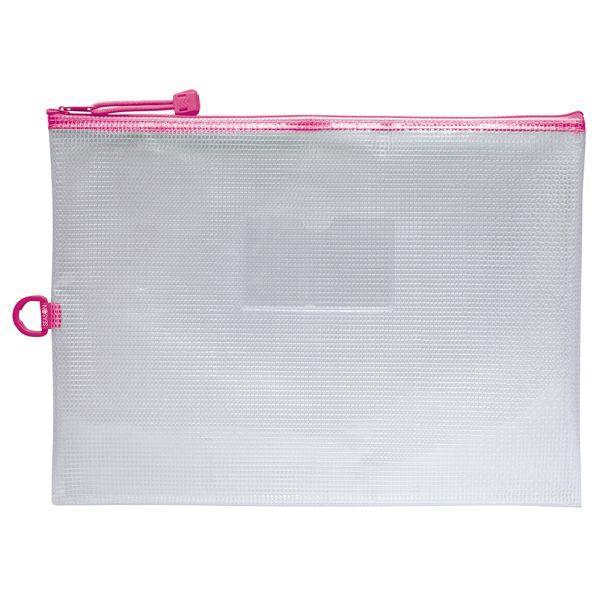 A4防水拉鍊袋(加袋)-粉