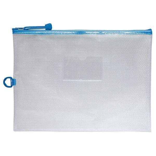 A4防水拉鍊袋(加袋)-藍