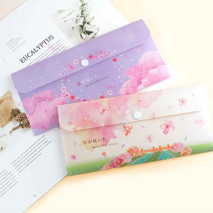 櫻の日-單扣PP信封袋-02紫