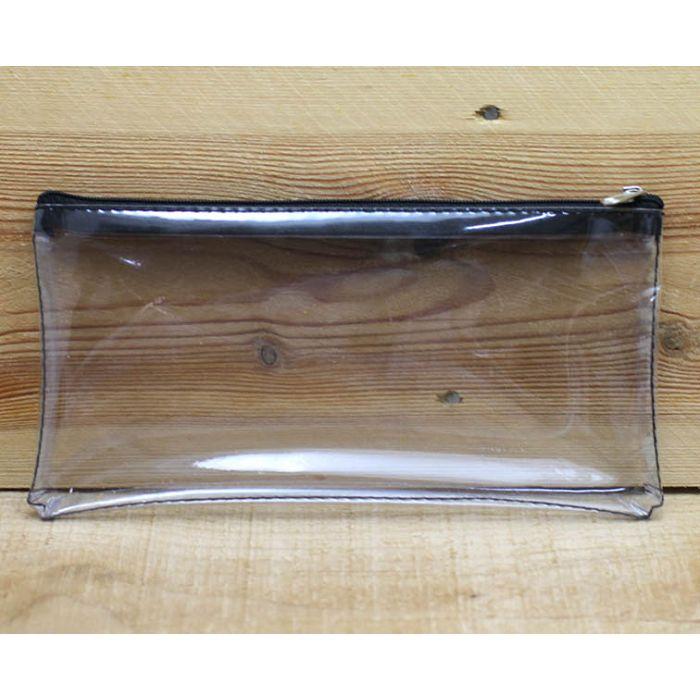 透明長方形拉鍊袋(黑色)