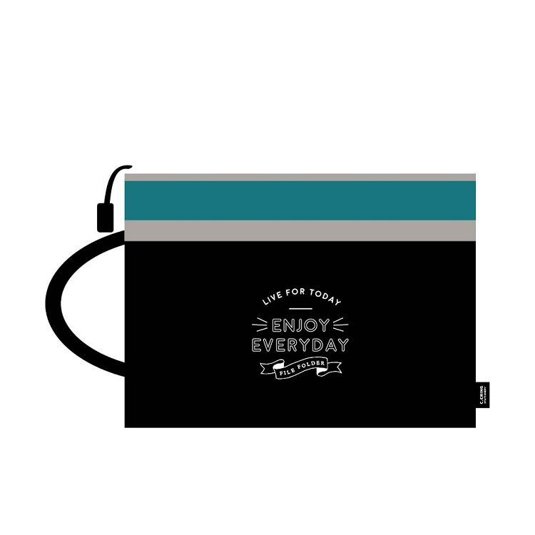 簡單生活-A4手提雙層文件袋-墨黑