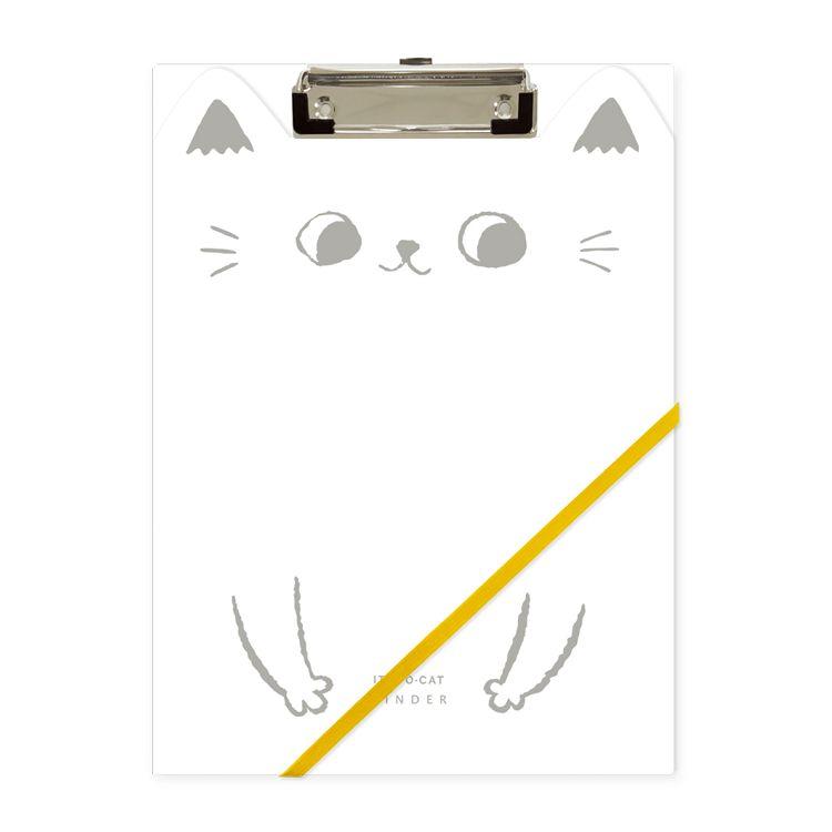O-cat貓耳A4丹麥夾-白