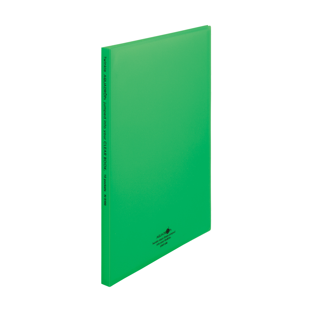 LIHIT AQUA DROPs A4資料本10入-黃綠 N-5100-6