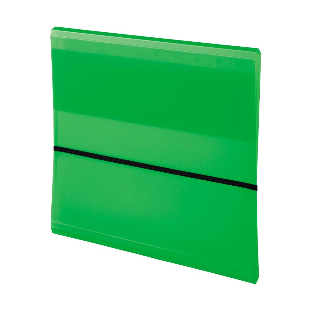 LIHIT AQUA DROPs 10格附繩帶多功能資料夾-黃綠 A-5056-6