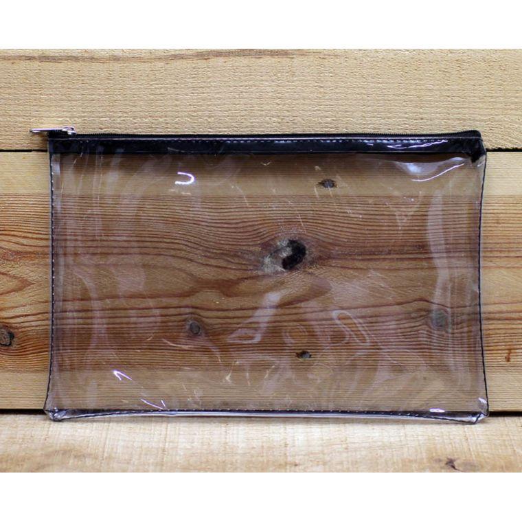 透明大長方形拉鍊袋(黑色)