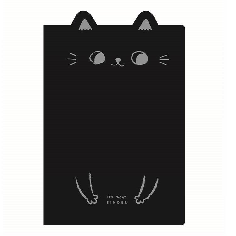O-Cat貓耳26孔細版孔夾-黑
