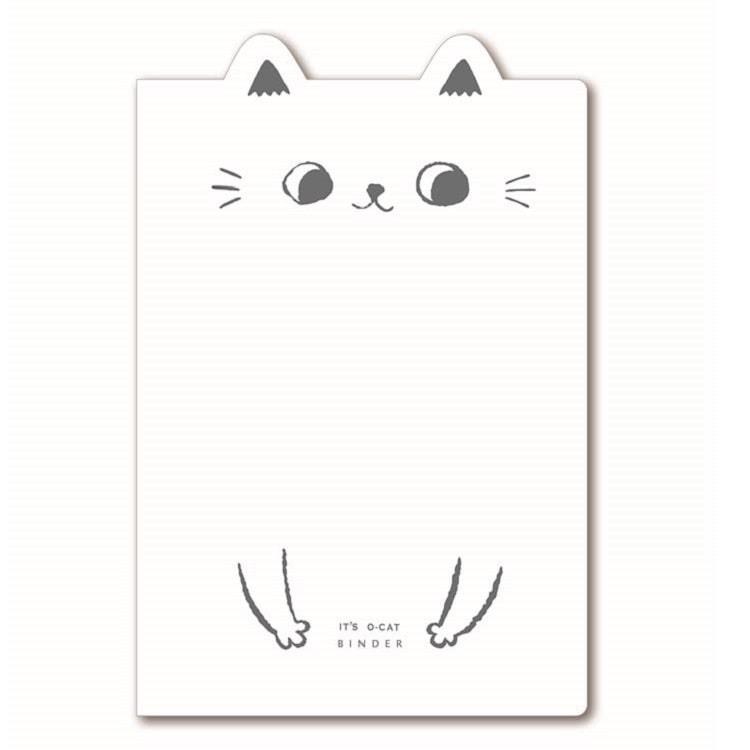 O-Cat貓耳20孔細版孔夾-白