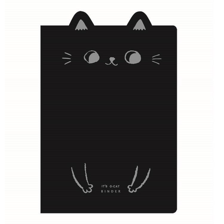 O-Cat貓耳20孔細版孔夾-黑
