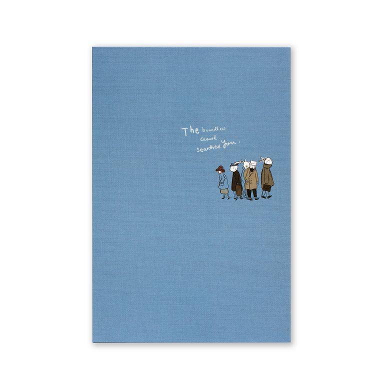 旅人窄版26孔夾-藍