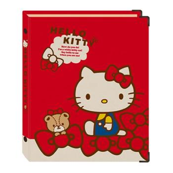 三麗鷗26孔夾(精裝) 牛皮紙-kitty