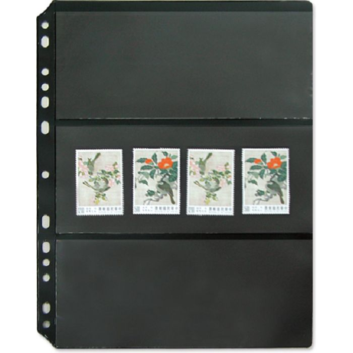 【珠友】黑底集郵卡 橫三格/5張