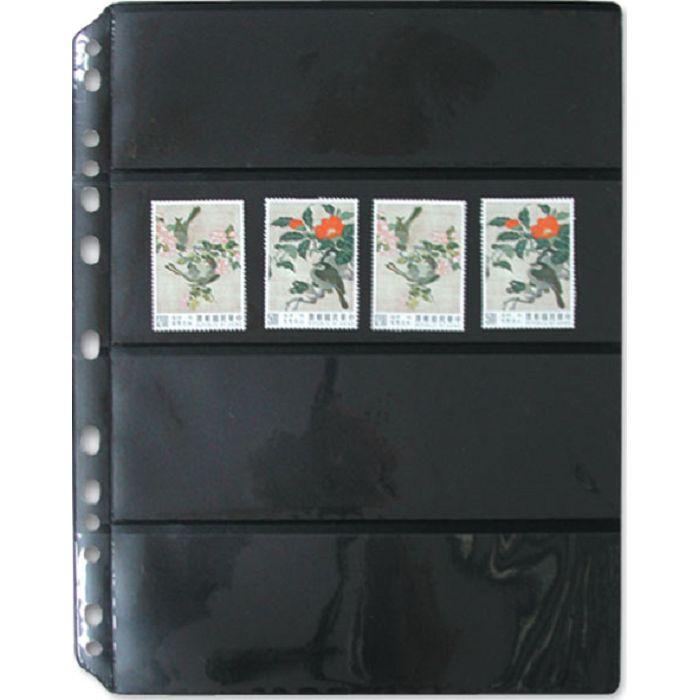 【珠友】黑底集郵卡 橫四格/5張