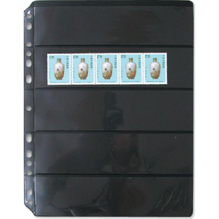【珠友】黑底集郵卡 橫五格/5張