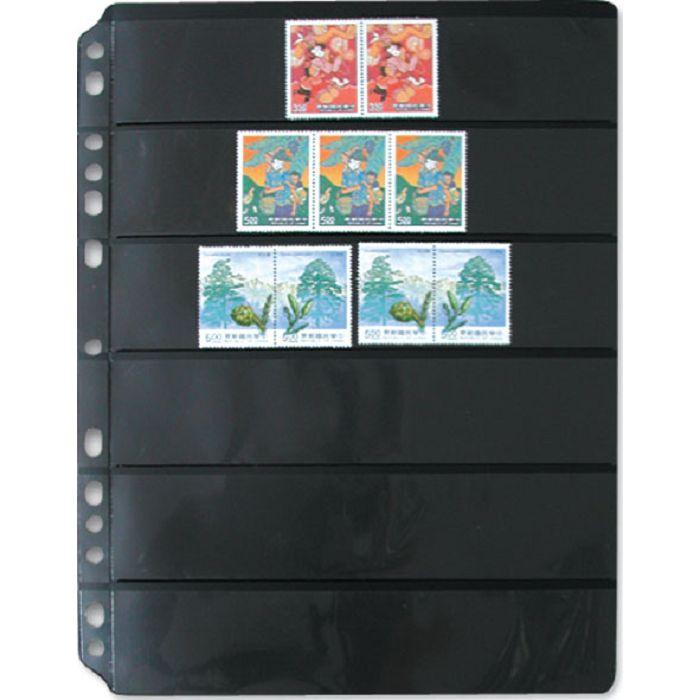 【珠友】黑底集郵卡 橫六格/5張
