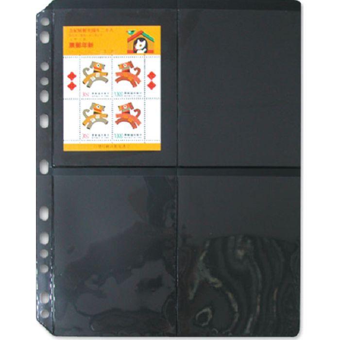 【珠友】黑底集郵卡 十字型/5張