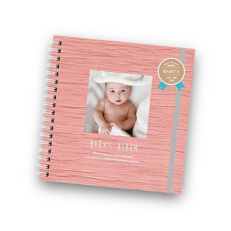 簡單生活-寶寶超音波線圈相本-嫩櫻粉