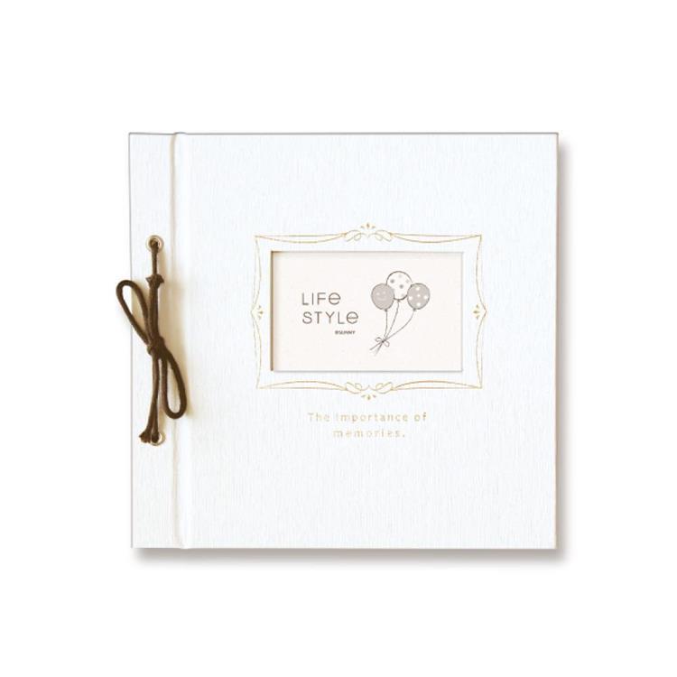 SHINE LIFE綁繩DIY自黏相本-白