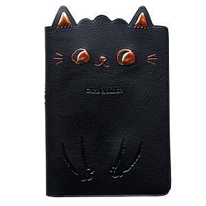 O-CAT貓耳膠皮隨身名片本(黑)