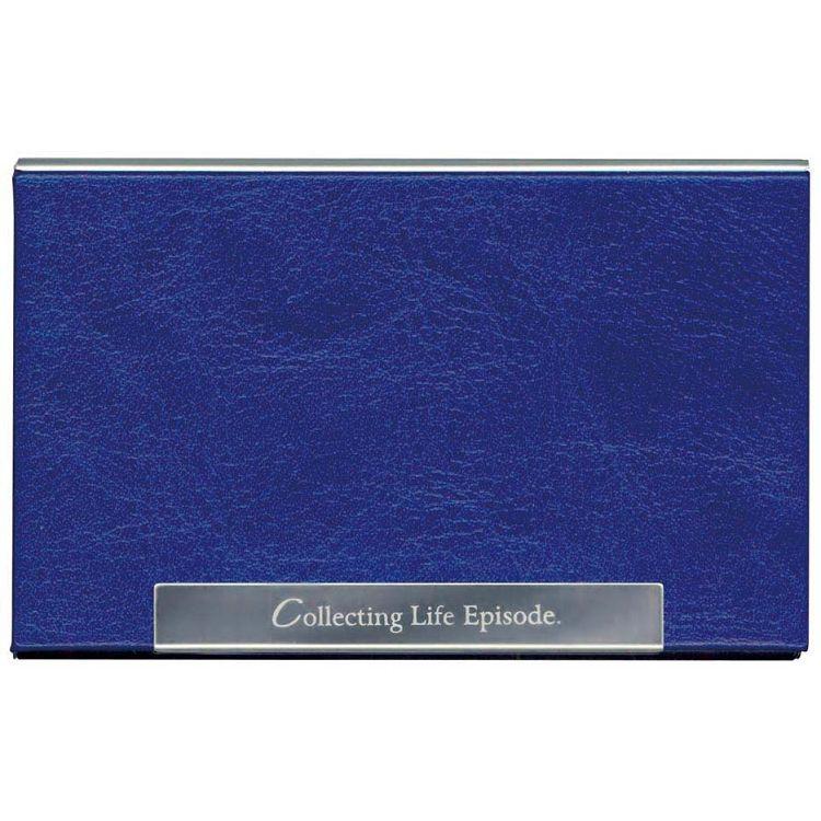 【四季】皮革金屬名片盒-生活藍