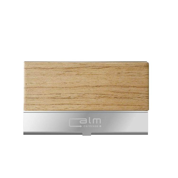 【青青】Calm-時尚木紋名片盒-松木