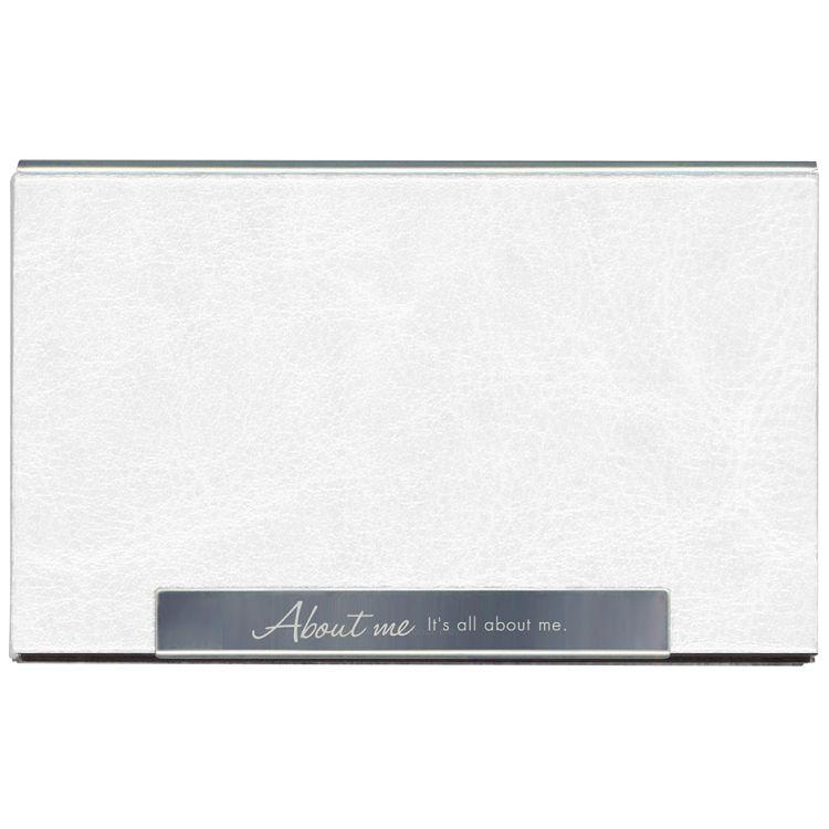 皮革金屬名片盒-自我白