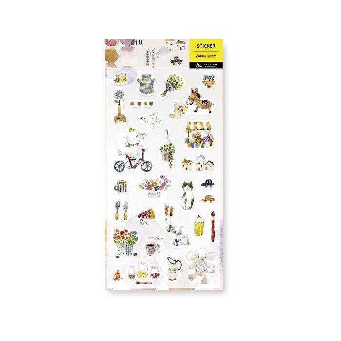 【柏格文具】ZAKKA 和紙手帳貼-小花店