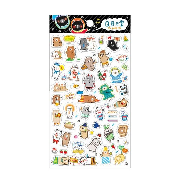 【青青】MiniQ-Q貝日常手帳裝飾貼