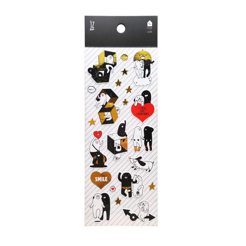 JzFun `0416X1024燙金裝飾貼紙-樂樂油