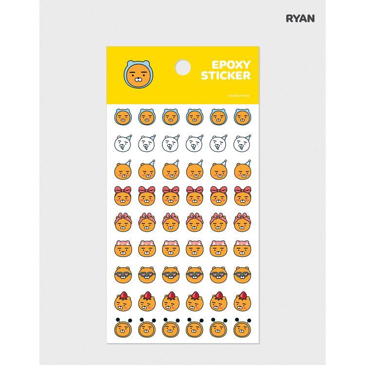 [kakao]pvc透明角色表情貼紙-RYAN