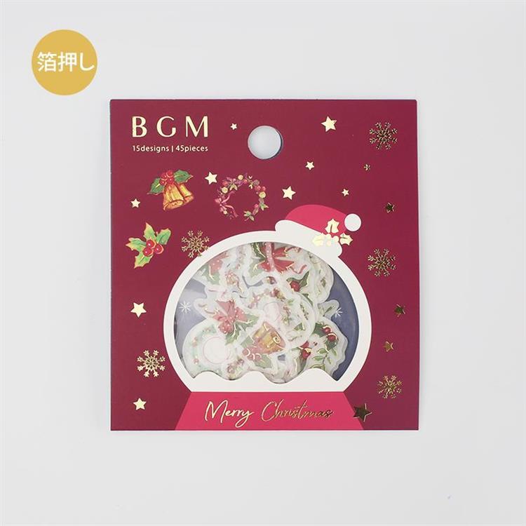【BGM】2019聖誕限定和紙貼紙包45入-裝飾