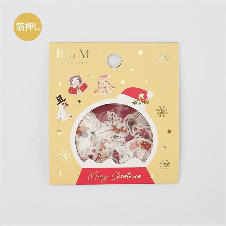 【BGM】2019聖誕限定和紙貼紙包45入-動物