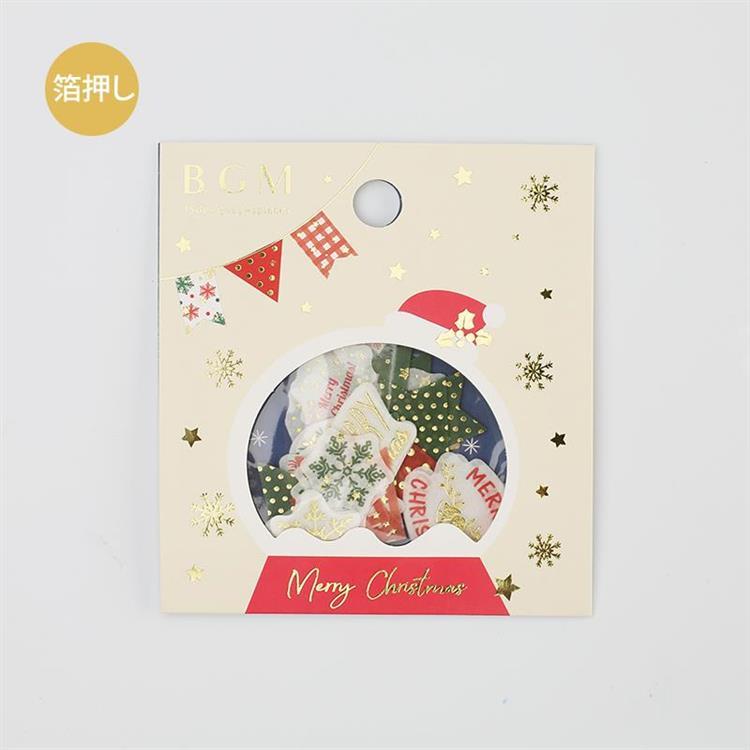 【BGM】2019聖誕限定和紙貼紙包45入-旗幟