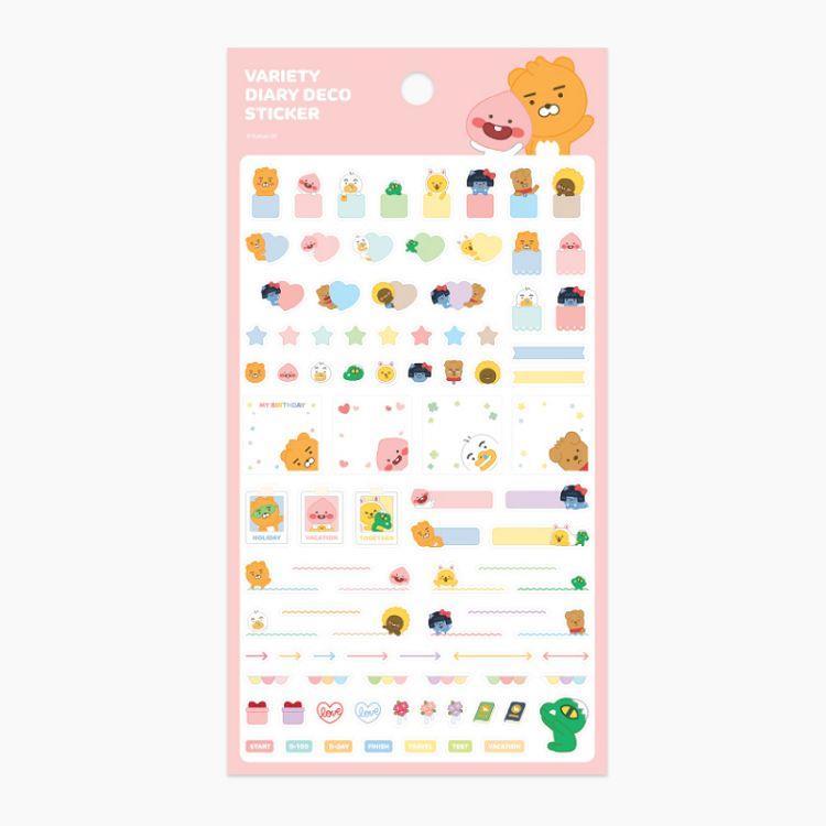 [kakao friends] 裝飾貼紙 (粉紅色)