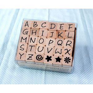 《Micia》英文字母-30入印章組-大寫英文字母&小插圖