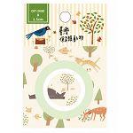 【青青文具】簡單生活-1.5公分插畫紙膠帶(台灣保育類動物)