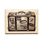 【青青】寫筆記 楓木印章-Luggage
