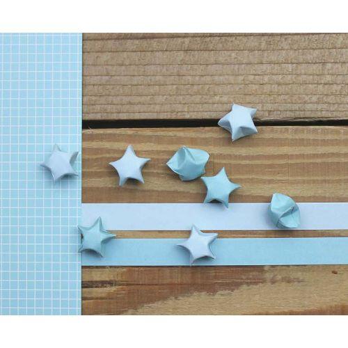 折星星紙條(素色水藍)