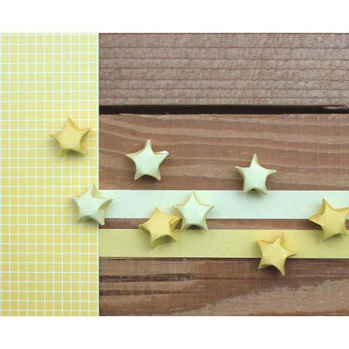 折星星紙條(素色暖黃)
