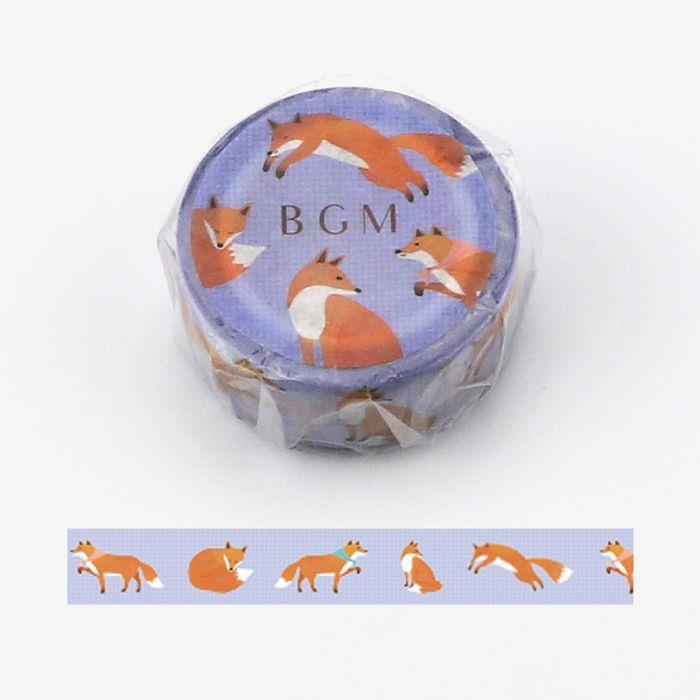 【BGM】和紙膠帶Life系列-狐狸