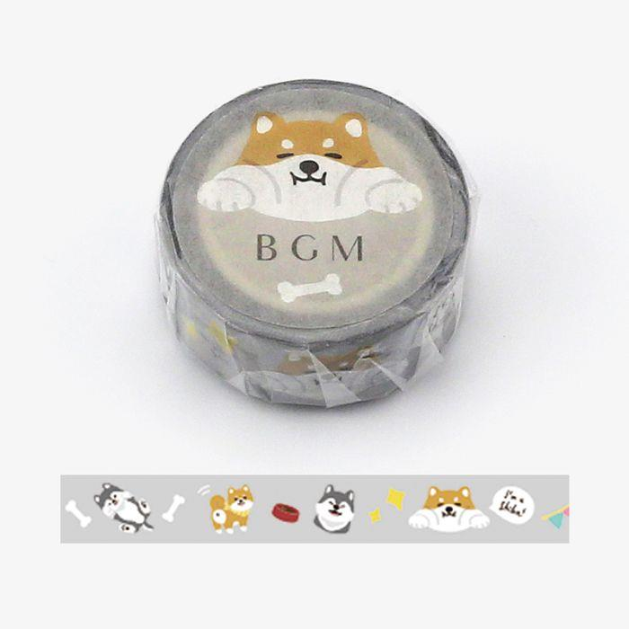 【BGM】和紙膠帶Life系列-柴犬