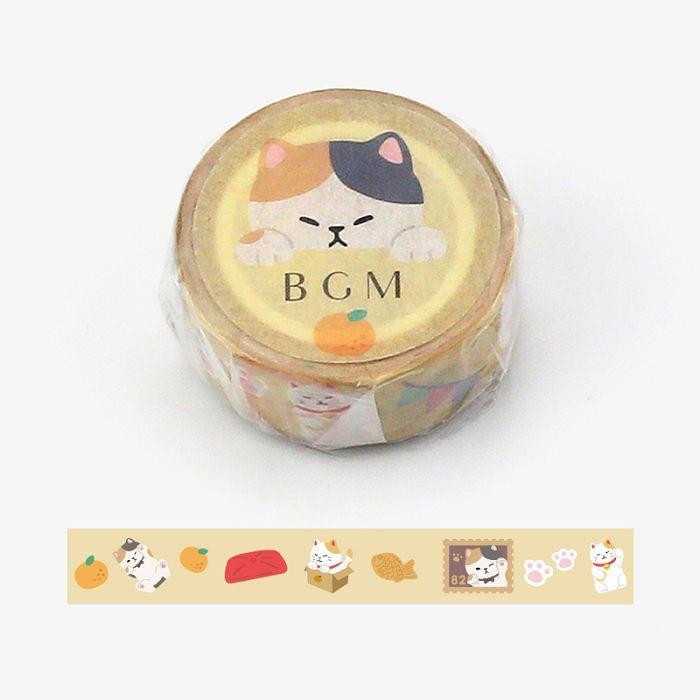 【BGM】和紙膠帶Life系列-三花貓