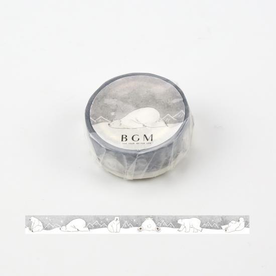 【BGM】和紙膠帶Life系列-北極熊