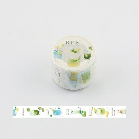 【BGM】和紙膠帶寬版Life系列-檸檬氣泡飲