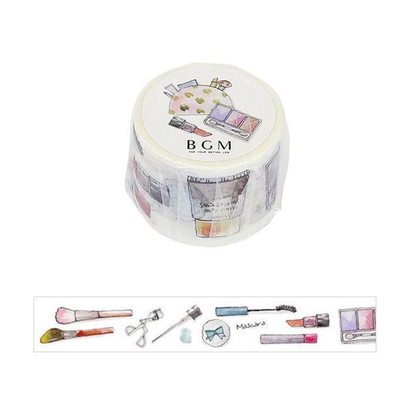 【BGM】和紙膠帶水彩物品心系列-化妝品