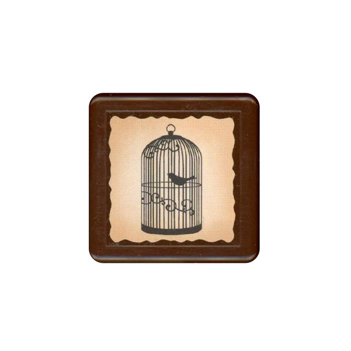 【KODOMO NO KAO】復古浸透印章-鳥籠