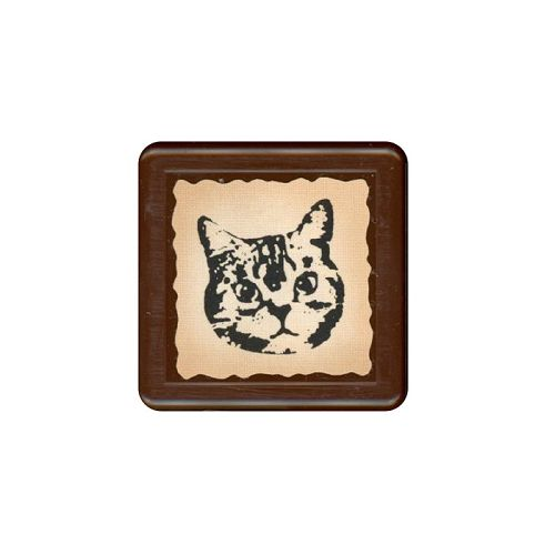 【KODOMO NO KAO】復古浸透印章-貓咪